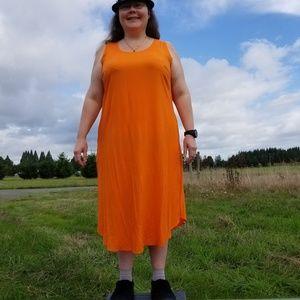 NWT 20W Jessica London orange rayon dress